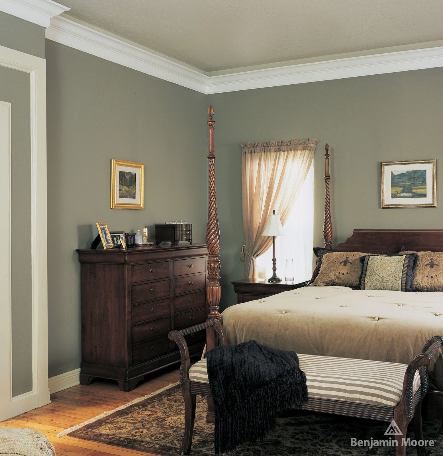 Bedroom Decorating Ideas Wallpaper Victorian Wallpaper Bedroom Bedroom Window Blinds Ideas Bedroom Colour Green: 2139-40 Heather Gray By Benjamin Moore.