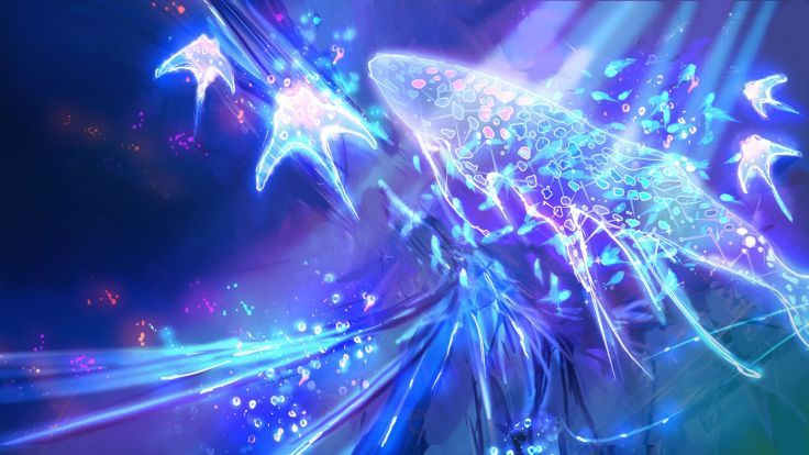 Child Of Eden Action Psychedelic Abstract Music Shooter Child Eden Fantasy  Wallpaper Background
