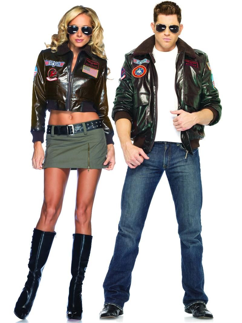 Top Gun Couples Costume Bomber Jacket Leg Avenue Halloween Do