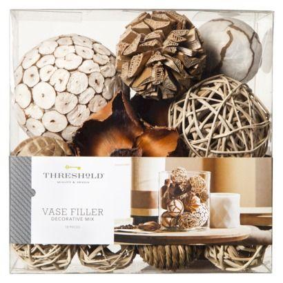 Threshold™ Decorative Mixed Vase Filler - White/Natural ...