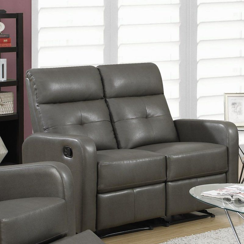 Reclining Loveseat Leather reclining loveseat, Leather