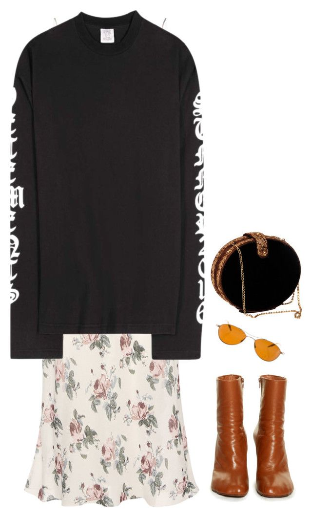 """""""Untitled #129"""" by lrnrmstrn ❤ liked on Polyvore featuring Yves Saint Laurent, Vetements and Oliver Peoples"""