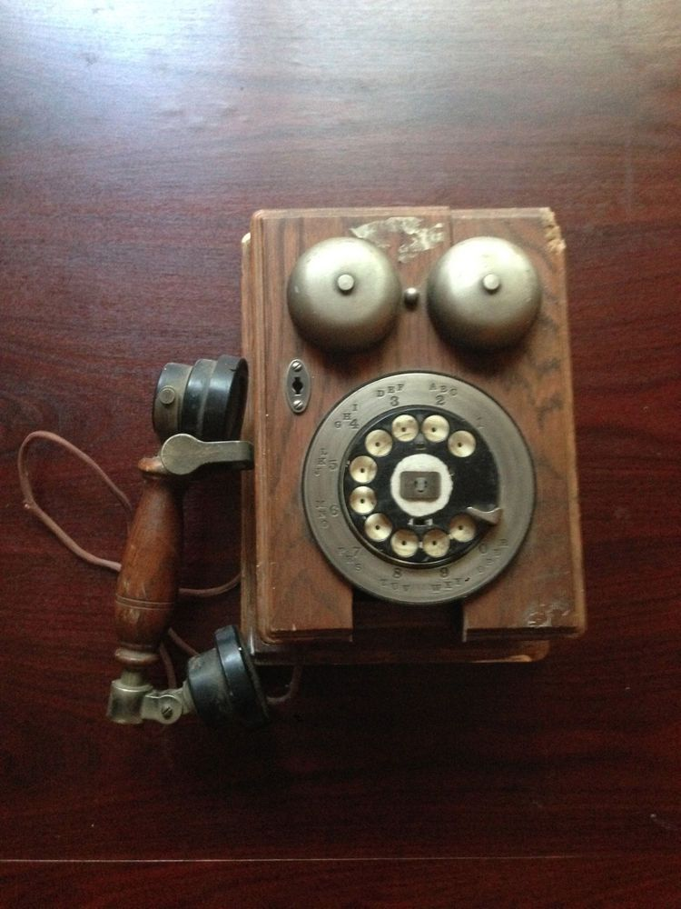As Well Vintage Oak Reproduction Telephone On Old Phone Wiring ... Western Electric Phone Model Wiring Diagram on