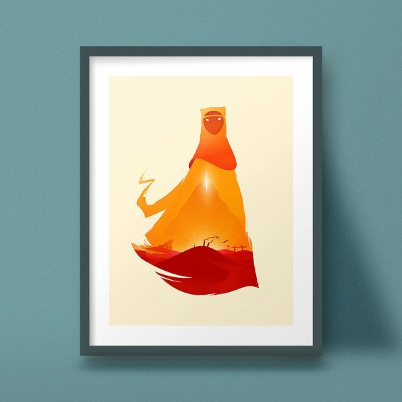 This Unique High Quality Print Is Inspired By The Conceptual And Visual Beauty Of Journey One Of My All Time Favorite Games Art Geek Artwork Bloodborne Art