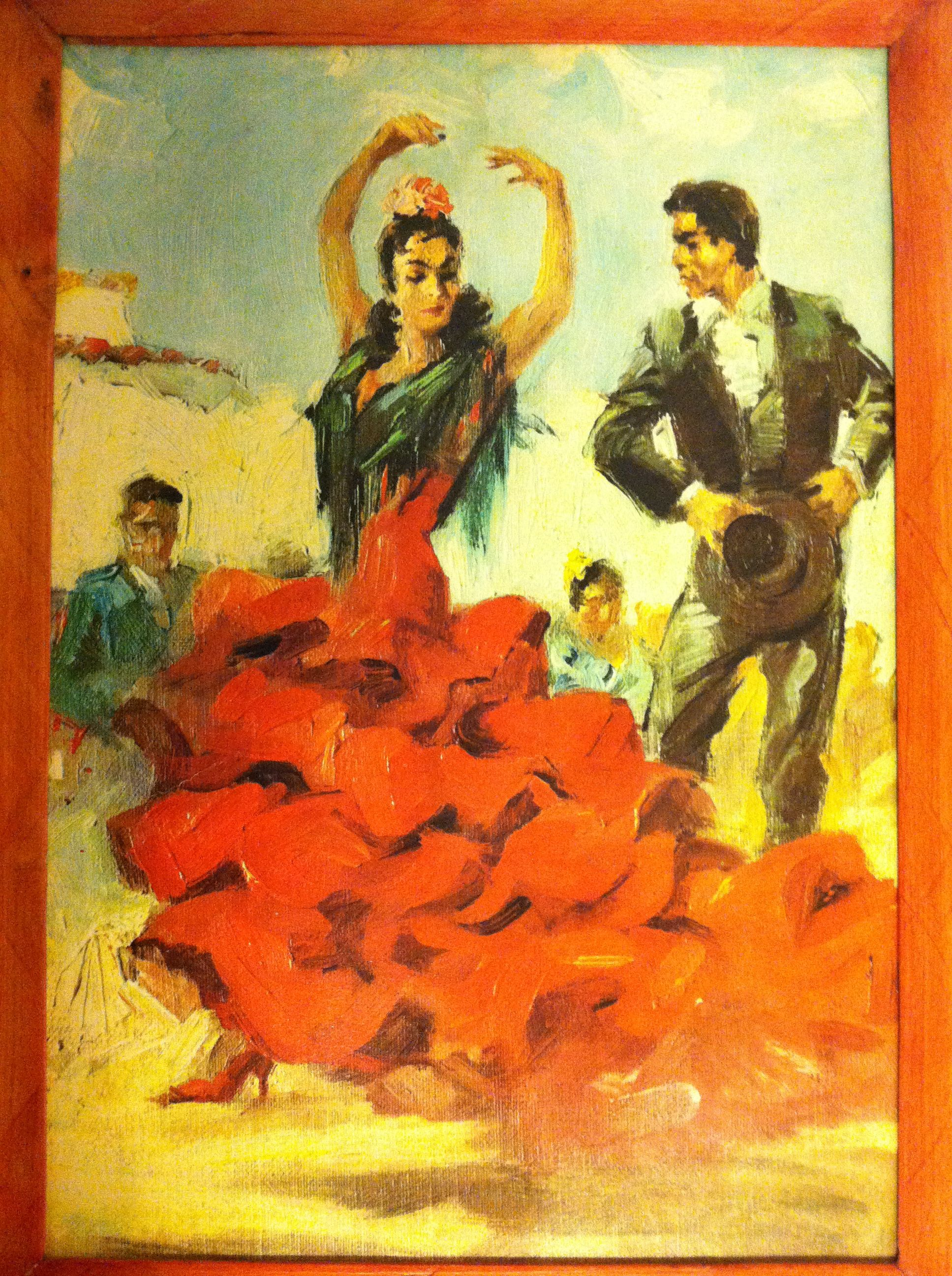 Gipsy Dancers, a painting I found tucked way back in a