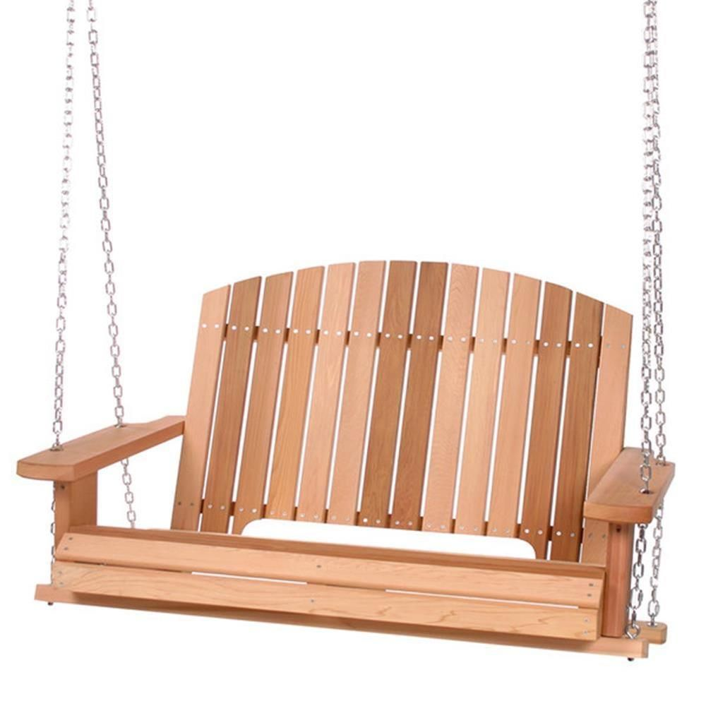 Natural unstained finish finely sanded finish porch swing material