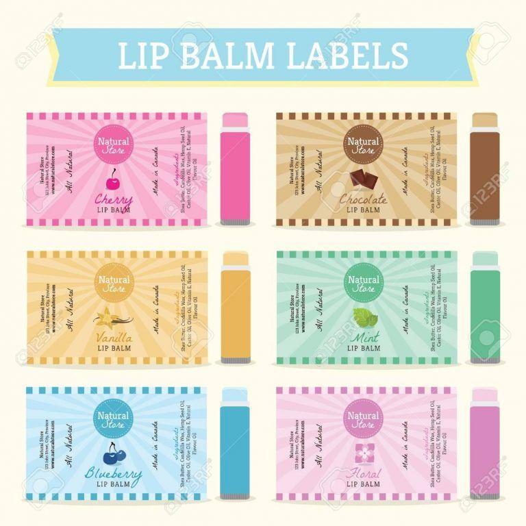 Lip Balm Labels Template Set Vector Illustration Pertaining To Lip Balm Label Template Lip Balm Labels Template Lip Balm Labels Label Templates