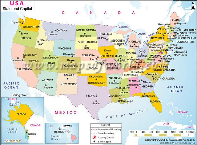 Usa states cities map usa usa city maps and city us states and capitals map highlighting all the 50 states of usa showing their names all the state capitals are marked and labelled gumiabroncs Gallery