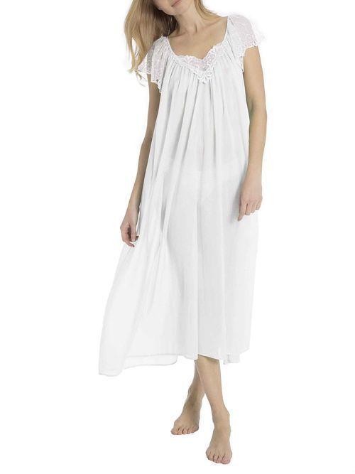 Eva B. Bitzer Nachtkleid, Länge 130cm, weiß, weiß, 36 Jetzt ...