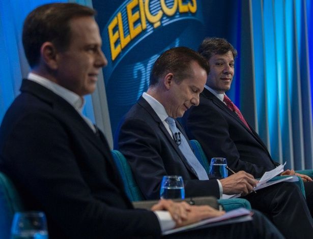Em último debate, Marta, Haddad e Russomanno duelam por vaga no 2º turno
