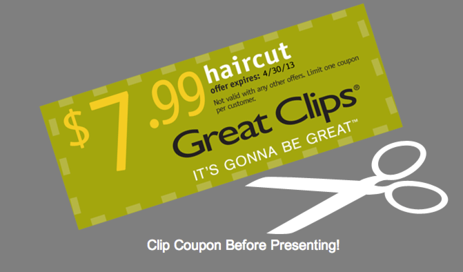 Great Clips Printable Coupon Haircuts For 7 99 Great Clips Coupons Haircut Coupons Great Clips Haircut