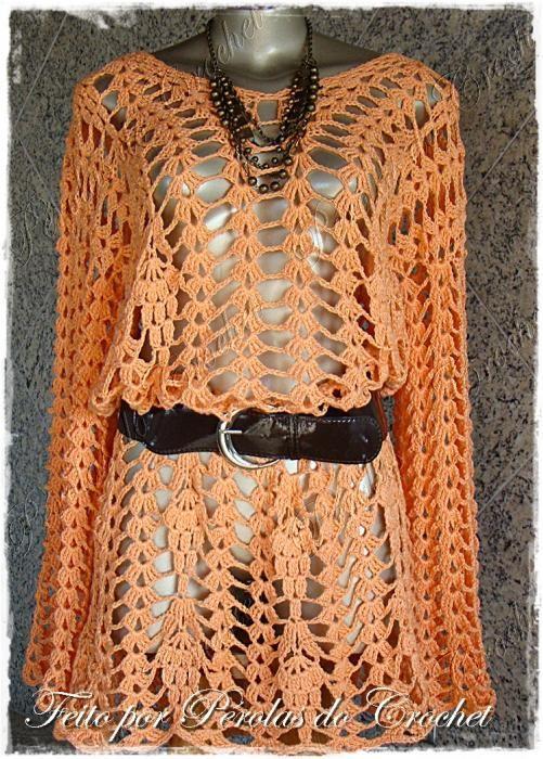 No Pattern Crocheted Summer Top Unicas Ligeras Pinterest