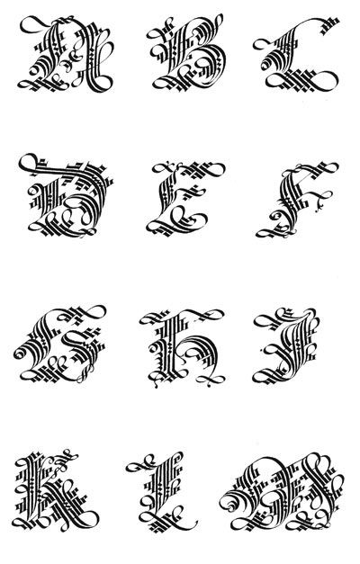 calligraphie chanceli re alphabets lettres stages et cours mail art enveloppes. Black Bedroom Furniture Sets. Home Design Ideas