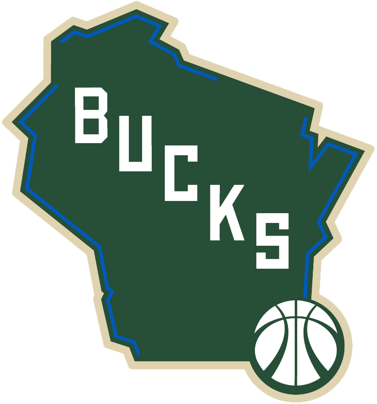 Milwaukee Bucks Alternate Logo (2016) - A map of the State of Wisconsin in  green with cream trim f37e1c431
