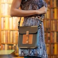 cool Urbane Small Women's Leather Cross Body Handbag - Chocolate Brown and Tan Check more at http://arropa.net/uk/accessories/product/urbane-small-womens-leather-cross-body-handbag-chocolate-brown-and-tan/