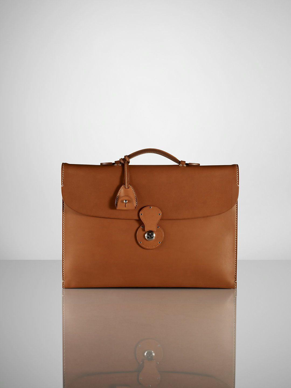4fcc136512 Saddle Single-Gusset Briefcase - Bags   Business Accessories Men -  RalphLauren.com