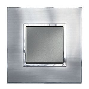 Arteor Switch Push-button Brushed Metal Stanless Steel