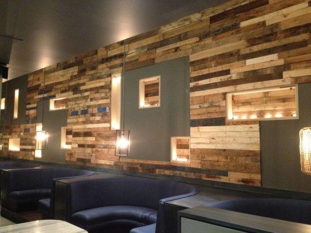 Afficher l 39 image d 39 origine mur bois de palette - Mur interieur en volige ...