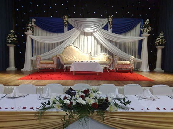 Beautiful starlight background wedding stages decoration for Backdrop decoration for church