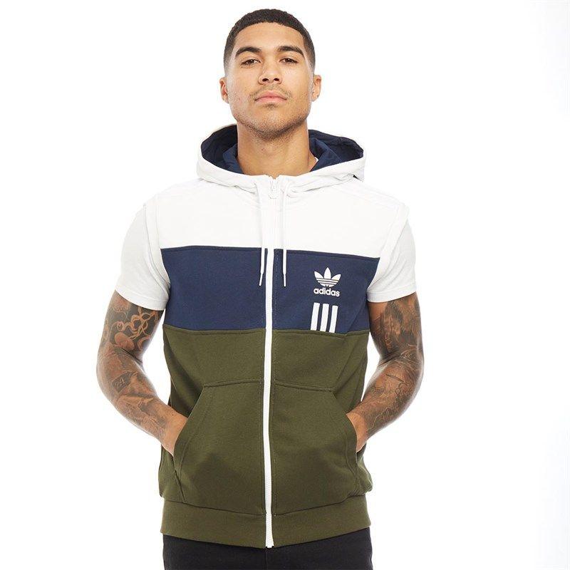 Adidas Originals Mens Id96 Sl Full Zip Hoodie White In 2020 Hoodies White Hoodie Adidas Originals Mens