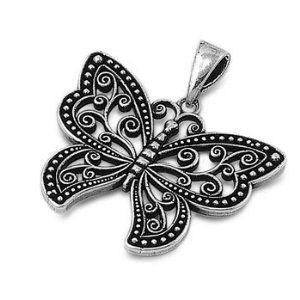 925 Sterling Silver Filigree Butterfly Pendant (Jewelry) http://www.amazon.com/dp/B006ZCP3BI/?tag=pindemons-20 B006ZCP3BI