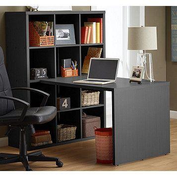 Perfect Alcove™ Bookshelf Writing Desk U2013 Black