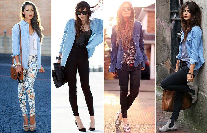 d1a65d625 Como Usar: Camisa Jeans | Moda Outuno/ Inverno 2017 | Look camisa ...