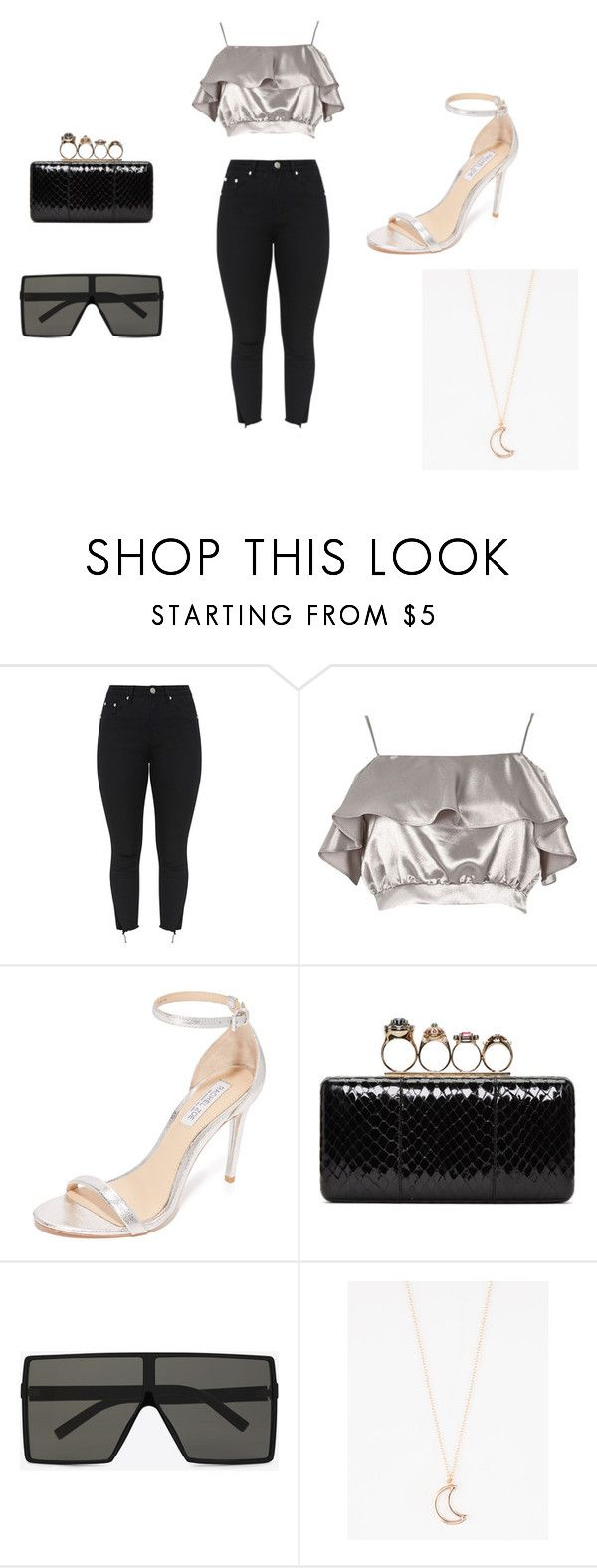 """""""Dress Down"""" by skyelynnalexis ❤ liked on Polyvore featuring River Island, Rachel Zoe, Alexander McQueen, Yves Saint Laurent and Full Tilt"""