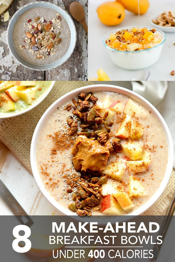 8 make ahead breakfast bowls under 400 calories healthy breakfast these make ahead breakfast bowls are an answer to your soggy cereal quinoa oats chia and fresh fruit come together in a bowl of yum ccuart Gallery