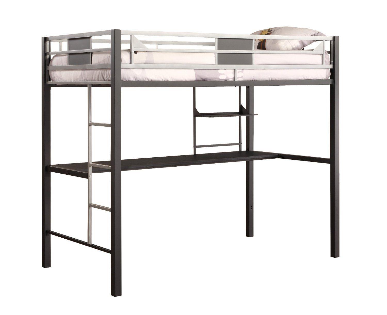 Best Amazon Com Dhp Screen Loft Bunk Silver Kitchen Dining 400 x 300