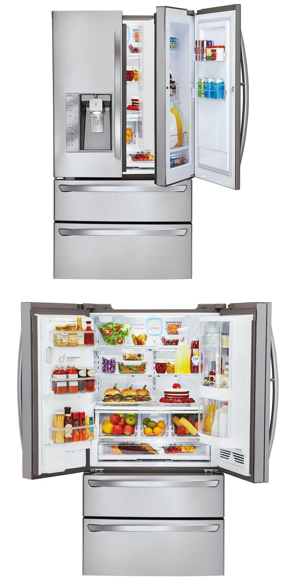 Lg Electronics 30 3 Cu Ft French Door In Door Refrigerator In