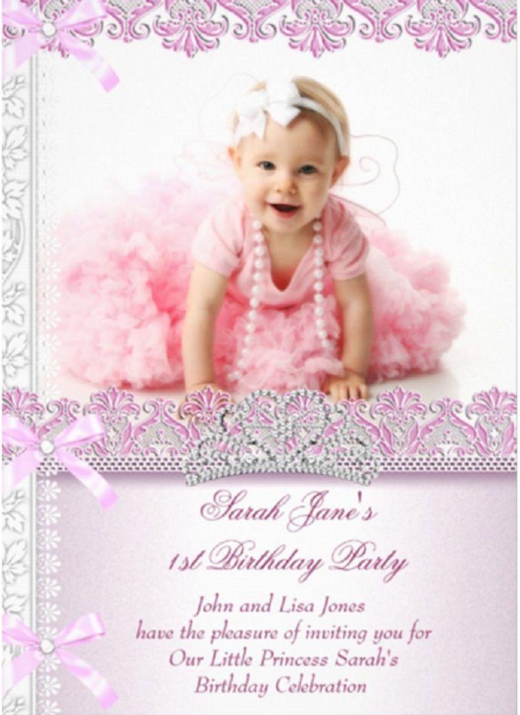1st Birthday Invitation Templates For Girls