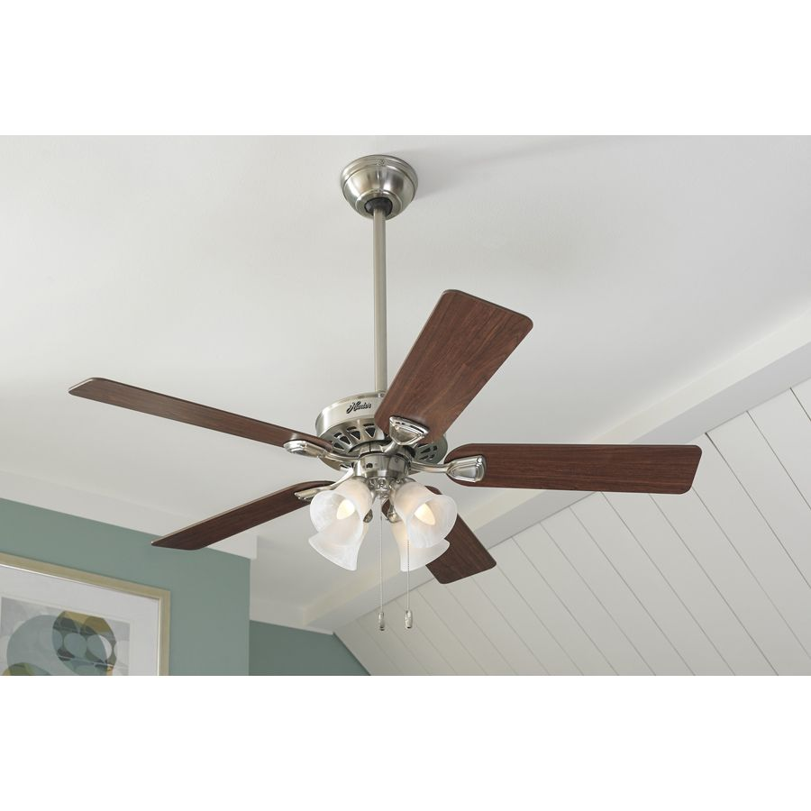 ceiling fan itm light loading flush hunter with mount image brushed ceilings low fans is nickel profile s