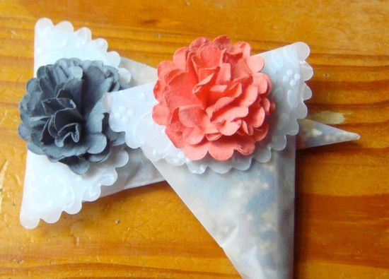 Wedding Favor Cones perfect to hold bird seed or by MoxieMavens,