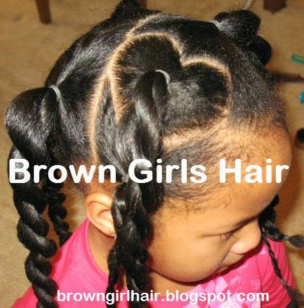 Valentines Day Natural Hair Style Brown Girls Black Little
