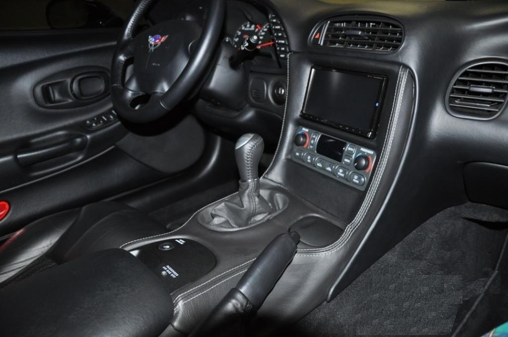 C5 Full Leather Wrapped Double Din Bezel Replacement Chevy Corvette Corvette Vette