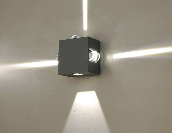 Lutec evans 4 wall light graphite cw 4 x 3watt cree leds lutec evans 4 wall light graphite cw 4 x 3watt cree leds outdoor lighting pinterest outdoor lighting and graphite aloadofball Images