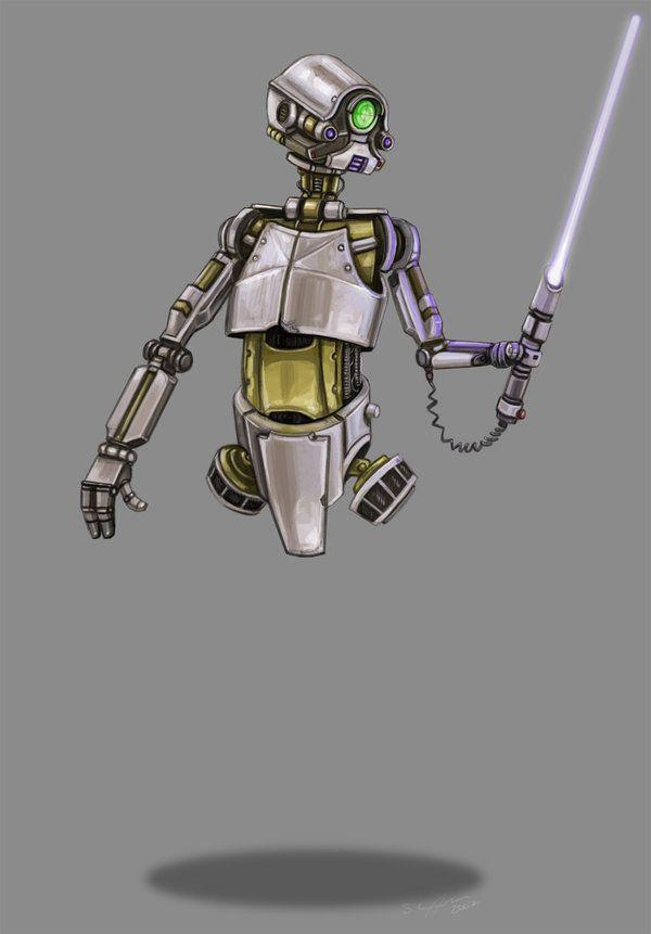 Lightsaber Training Droid By Stucunningham On Deviantart