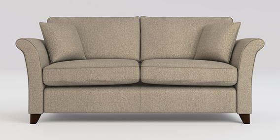 Brompton Medium Sofa Seats Belgian Soft Twill Light Natural Low Tapered From The Next Uk Online
