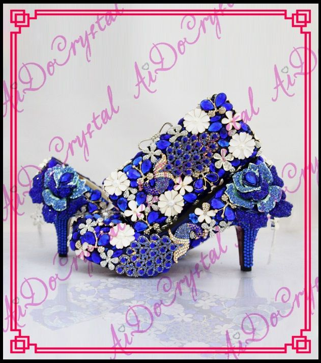 >> Click to Buy << Aidocrystal Promotion price royal series Italian matching shoe and bag set with crystal high heel size35-44 free shipping  #Affiliate