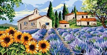 Hameau Provencal Canevas Margot Paysage De Provence Canevas