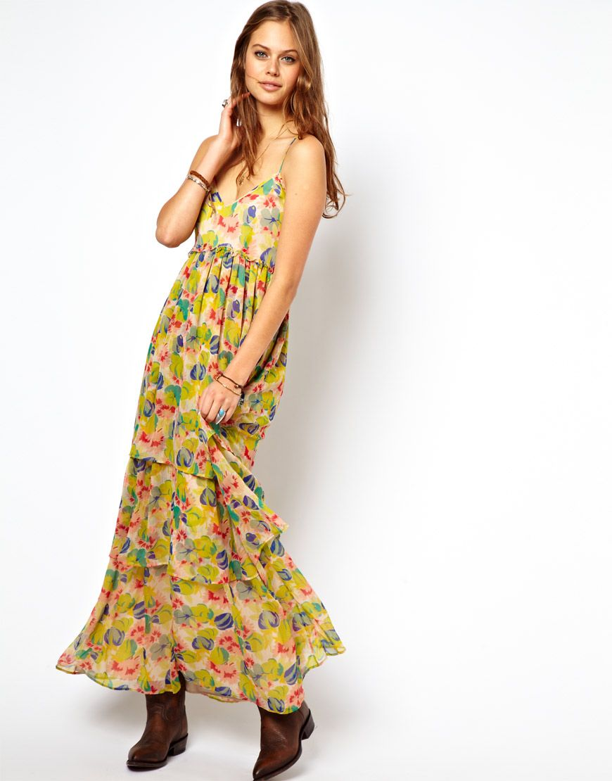 ASOS | ASOS Maxi Dress In Floral Print at ASOS