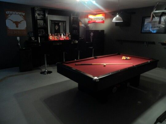 This Is The Man Cave I Built In My 2 Car Detached Garage