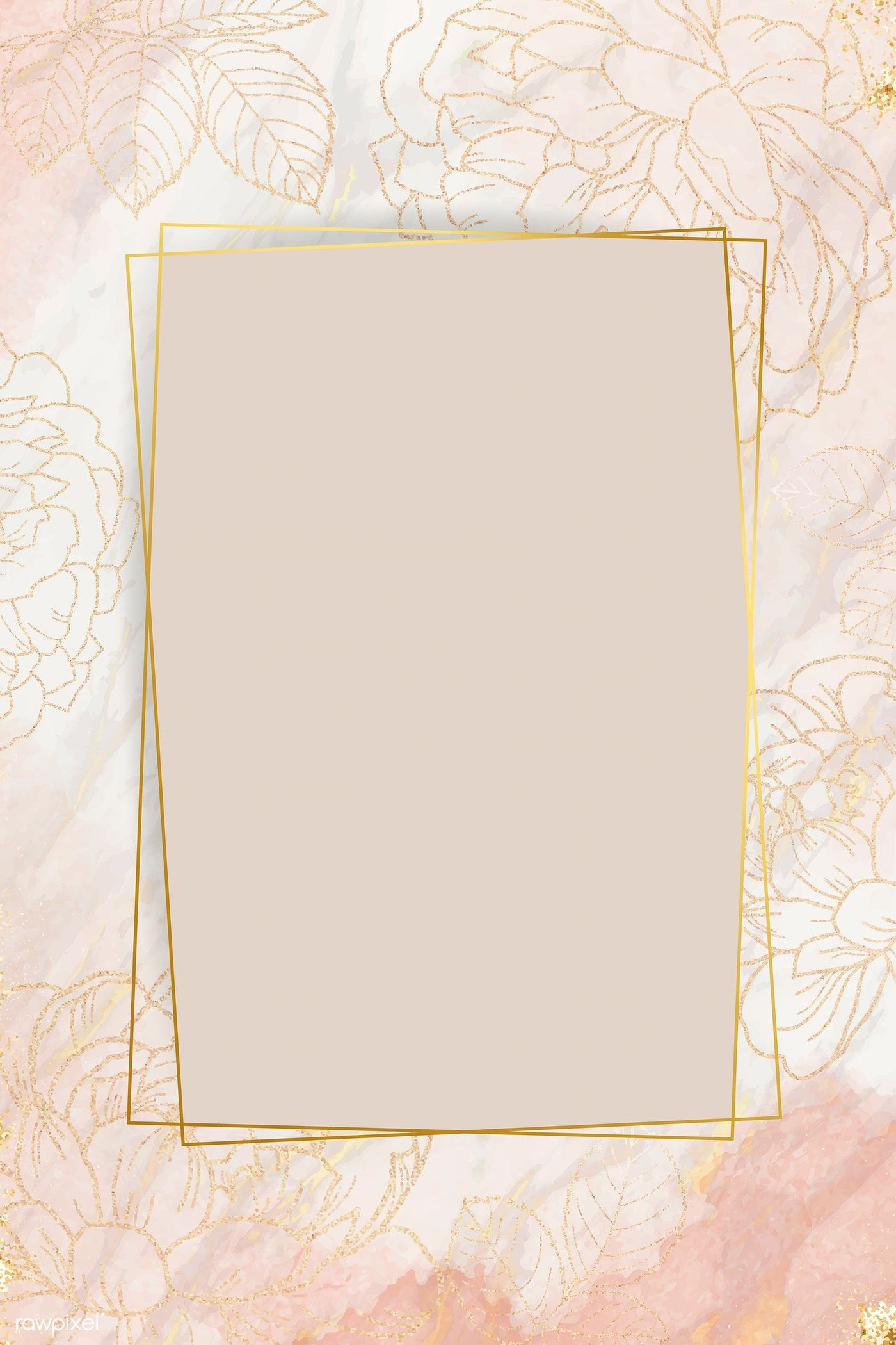Download Premium Vector Of Pink Golden Floral Frame Vector 1211898 Flower Background Wallpaper Flower Graphic Design Framed Wallpaper Aesthetic background wallpaper golden