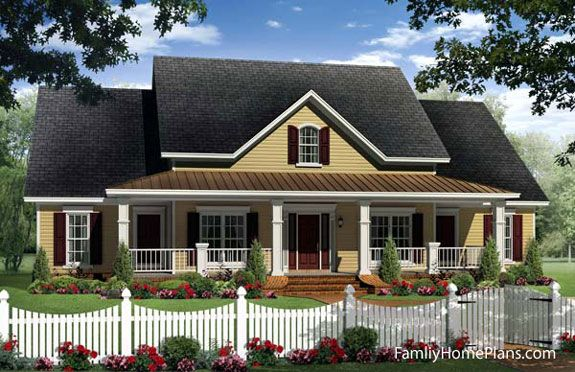 Is A 4 Bedroom / Bath Country / Traditional / Southern / Farmhouse Style House  Plan With 2402 Square Feet Of Living Space. Call To Speak To One Of Our ...