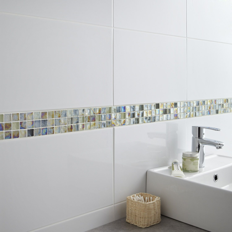 Carrelage mural en faïence, blanc, 25 x 40 cm - 7.95€ | Home ideas ...