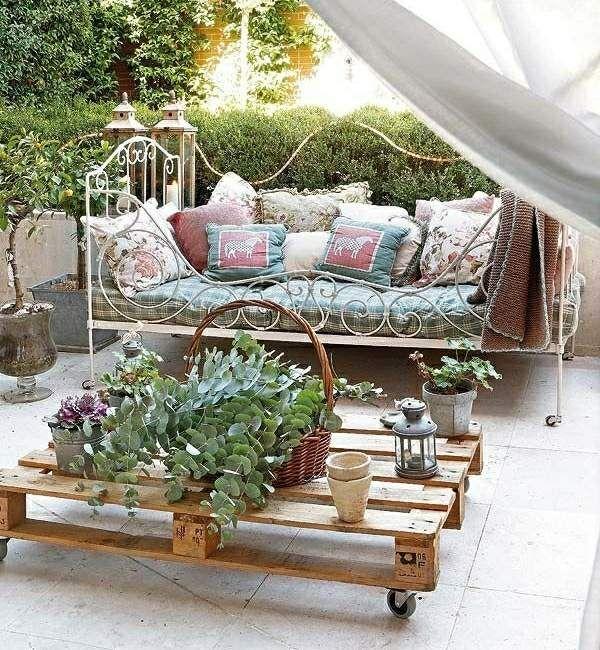 Garten Möbel Kaffeetisch selber bauen Daybed   Balkon- Balkonien ...