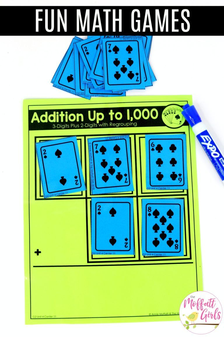 Second Grade Addition And Subtraction Of 2 Digit And 3 Digit Numbers 2nd Grade Math Math Addition Second Grade Math Addition math games grade 2