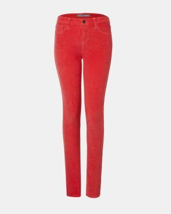 Pantalon en velours côtelé skinny de coupe régulière