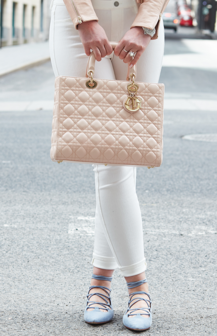 Lady Dior Large Pink bag now available! Click to see beautiful pre-owned  bags. c09efab11fc32